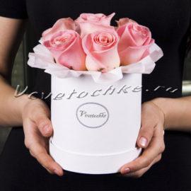 Шляпная коробка Demi «Розы Розовые»